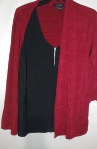 Liz McCoy Red Black Top Set XL Plus